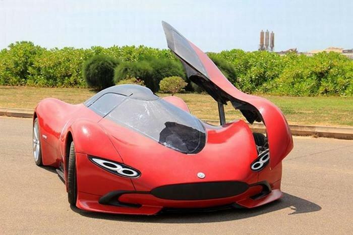 Невероятный шикарный суперкар, созданный китайским инженером своими руками