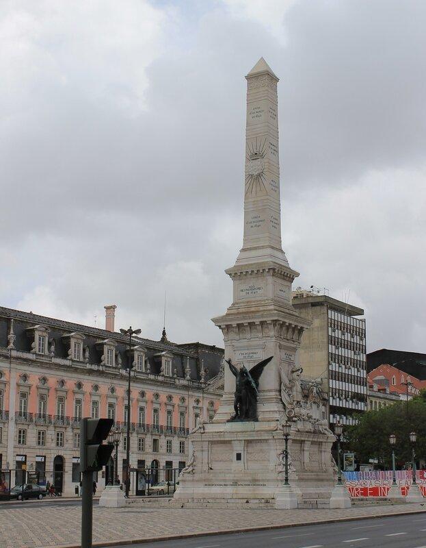 Lisbon. Square Restauradores. Monument of the restoration of independence (Monumento AOS Restauradores da Independência)
