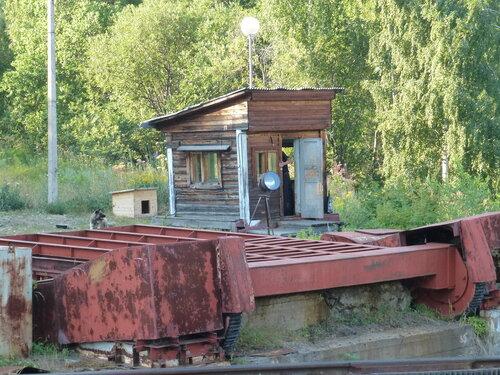 Разводной мост над путями судоподъемника Красноярской ГЭС