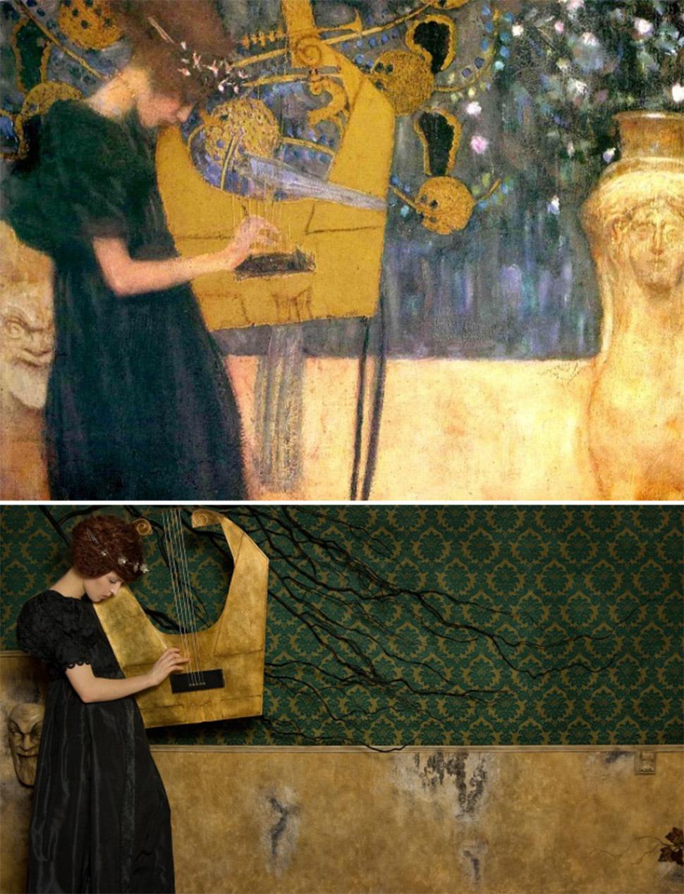 «Музыка I», Густав Климт, 1895 год.