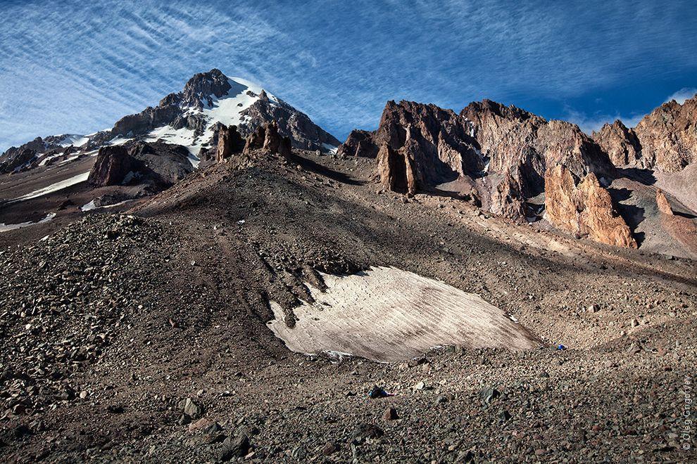 31. Вид на гору Казбек с метеостанции.
