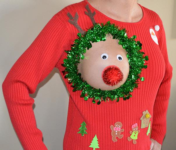 Еще один странный тренд, о котором мы рассказывали в прошлом году — « оленья грудь », когда женщины