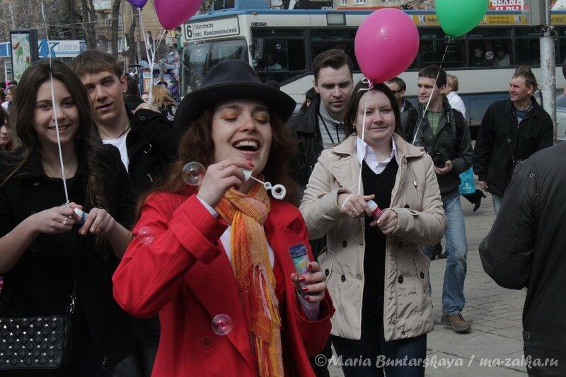 Дримфлеш или  День мыльных пузырей в Саратове, 08 апреля 2012 года