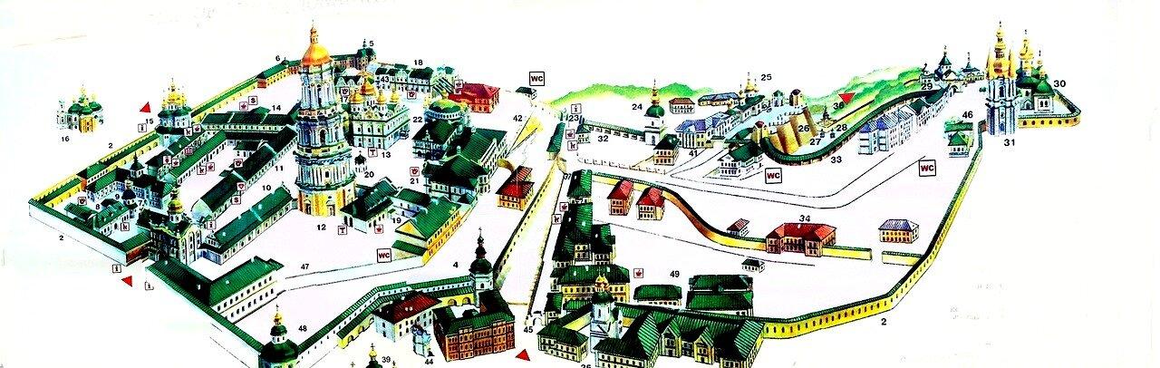 Карта Киево-Печерской Лавры