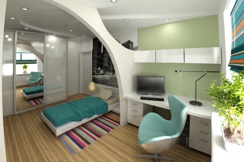 Дизайн комнаты для мальчика-школьника