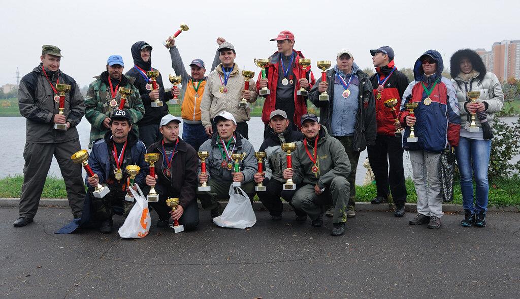 Победители и призеры соревнований по спортивной ловле рыбы на фидер, Кубок Москвы 2012