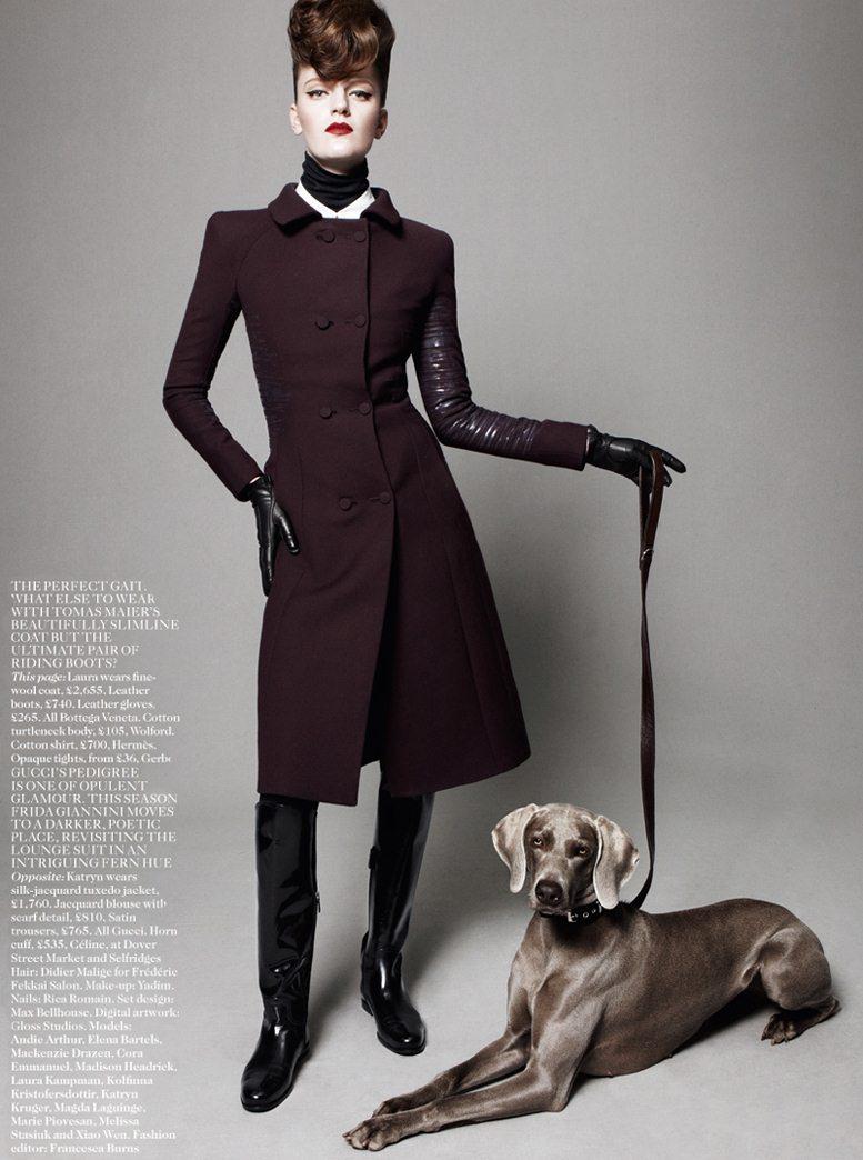 Best In Show - Laura Kampman / Лаура Кампман, фотограф Daniel Jackson в журнале Vogue UK, август 2012