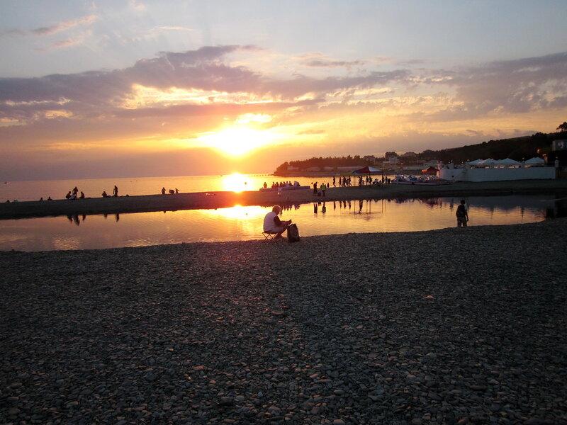 Закат в Дивноморске