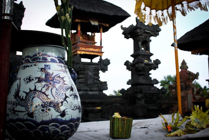 Pot for Holy Water. Pura Dhangkahuangan Klung Kung
