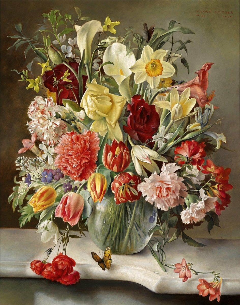 Franz Leitgeb - Bouquet of Flowers,1982