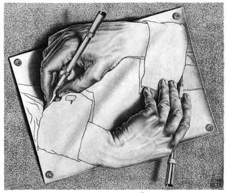 Рисующие руки Мауриц Корнелис Эшер