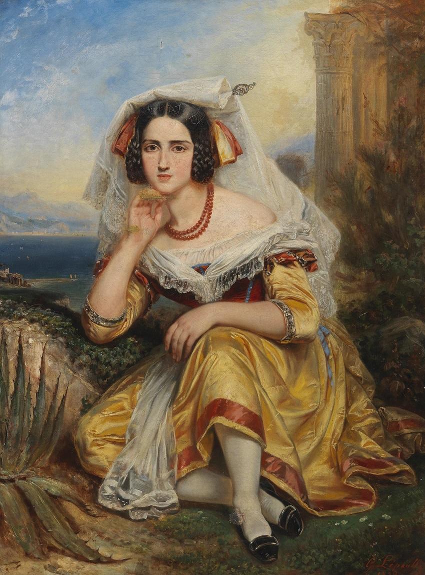 Mädchen aus Frascati in Festtracht, 1839.