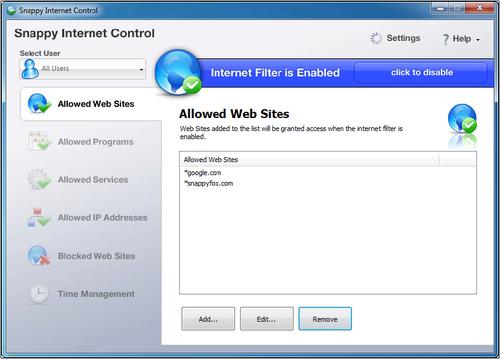 Родительский контроль доступа в интернет