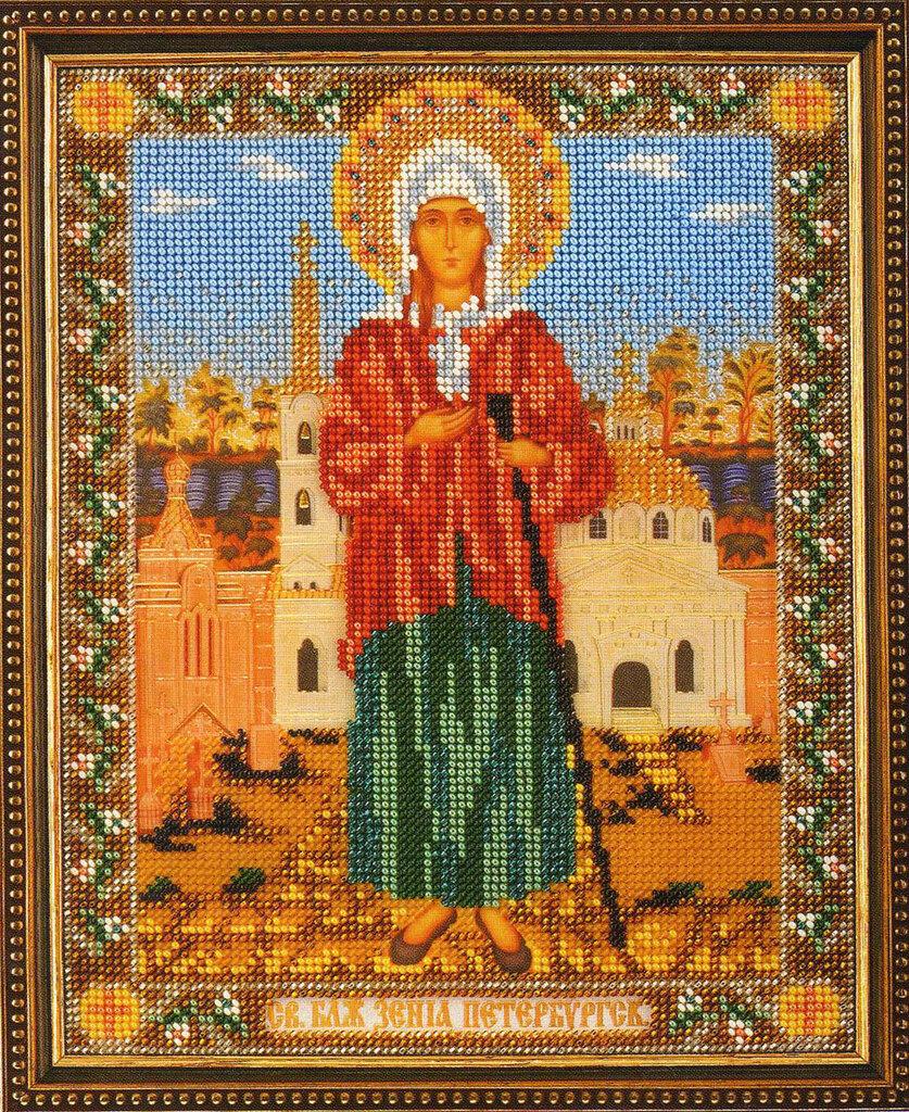 Икона богородица покрова вышивка бисером 19