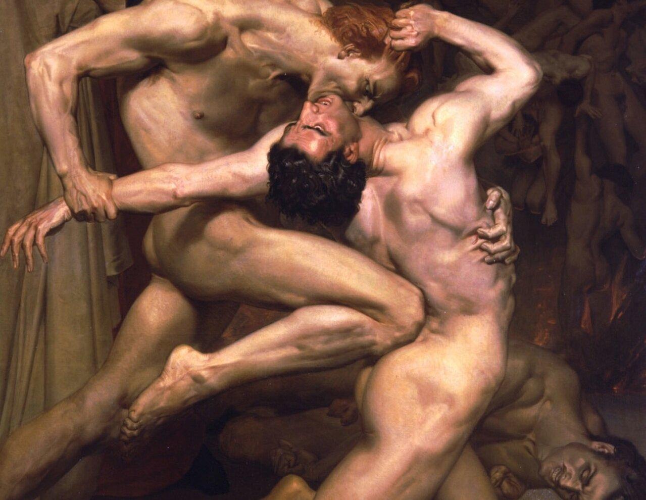 Бугеро, Данте и Вергилий в Аду. 1850 г.