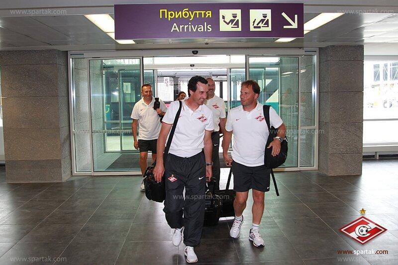 «Спартак» прибыл в Донецк на матч с «Шахтером» (Фото)