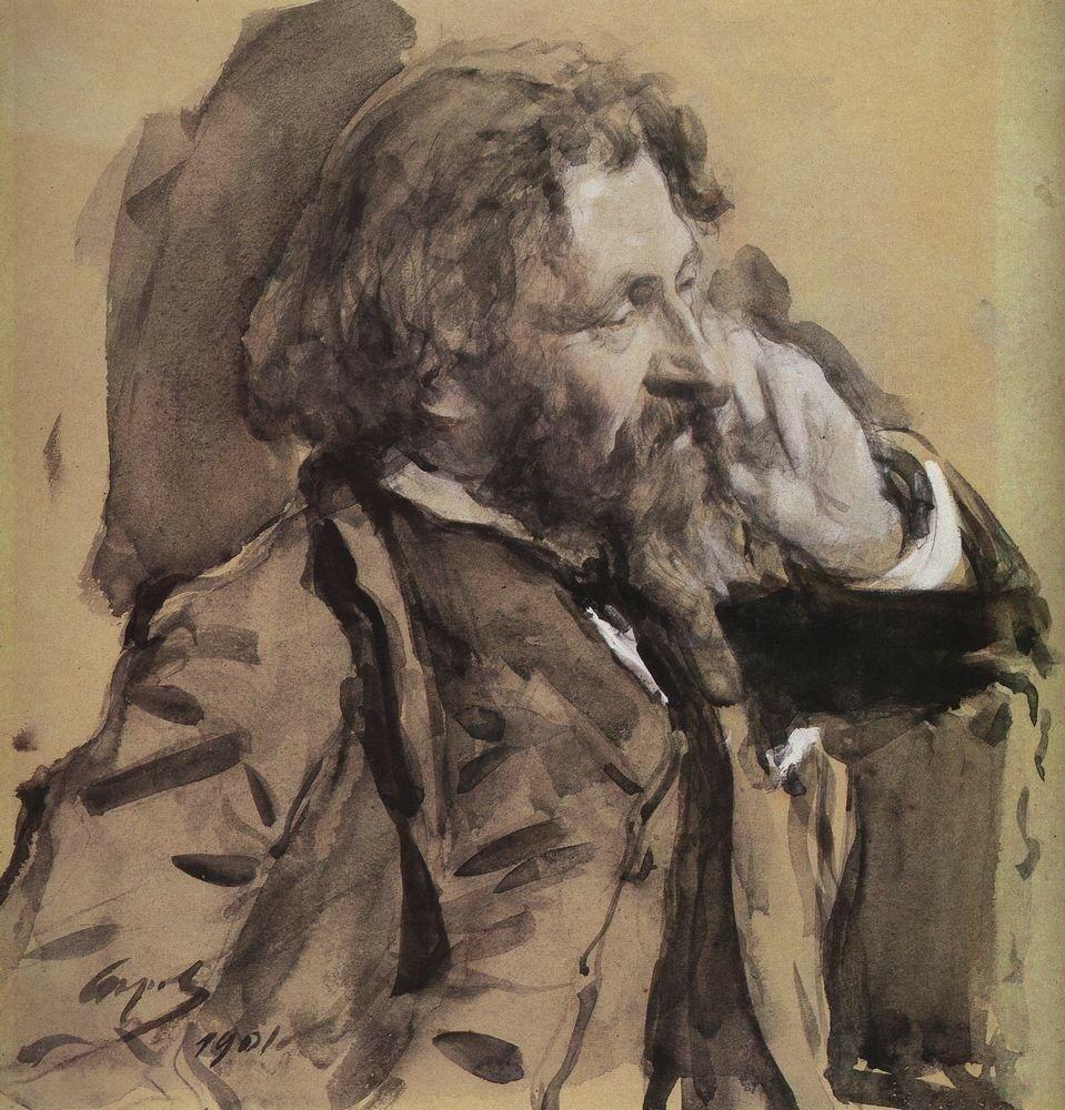 Портрет И.Е.Репина. 1901.jpg