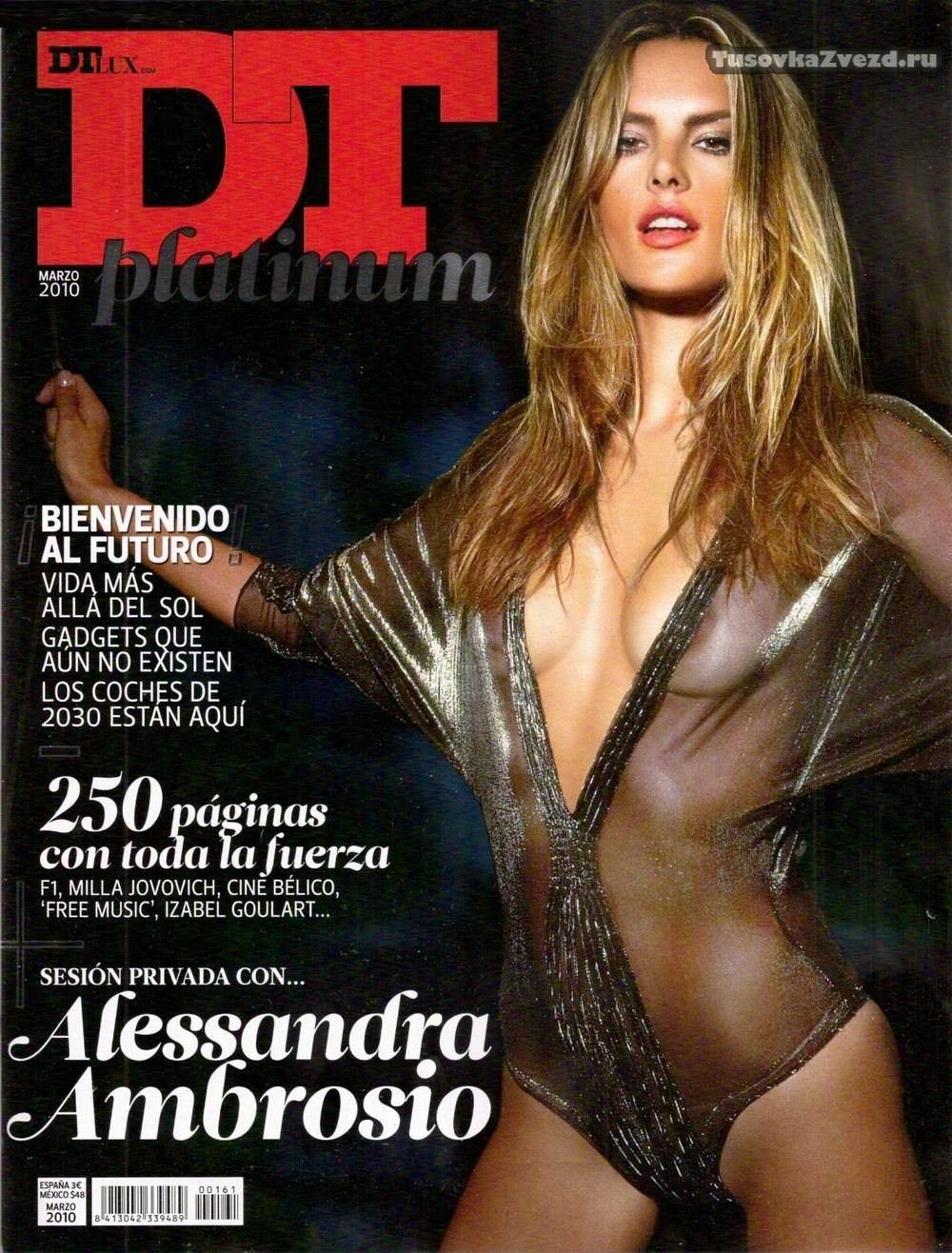 Алессандра Амбросио (Alessandra Ambrosio) голая, фото сессия для журнала DT Испания, март 2010