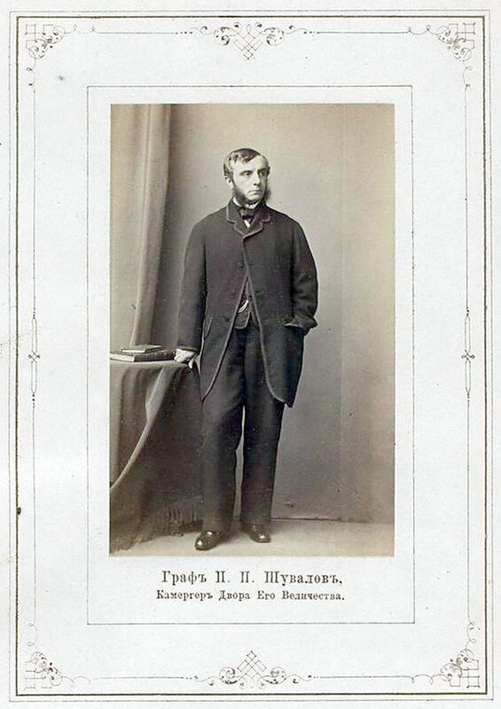 граф П.П. Шувалов, камергер Двора Его Величества