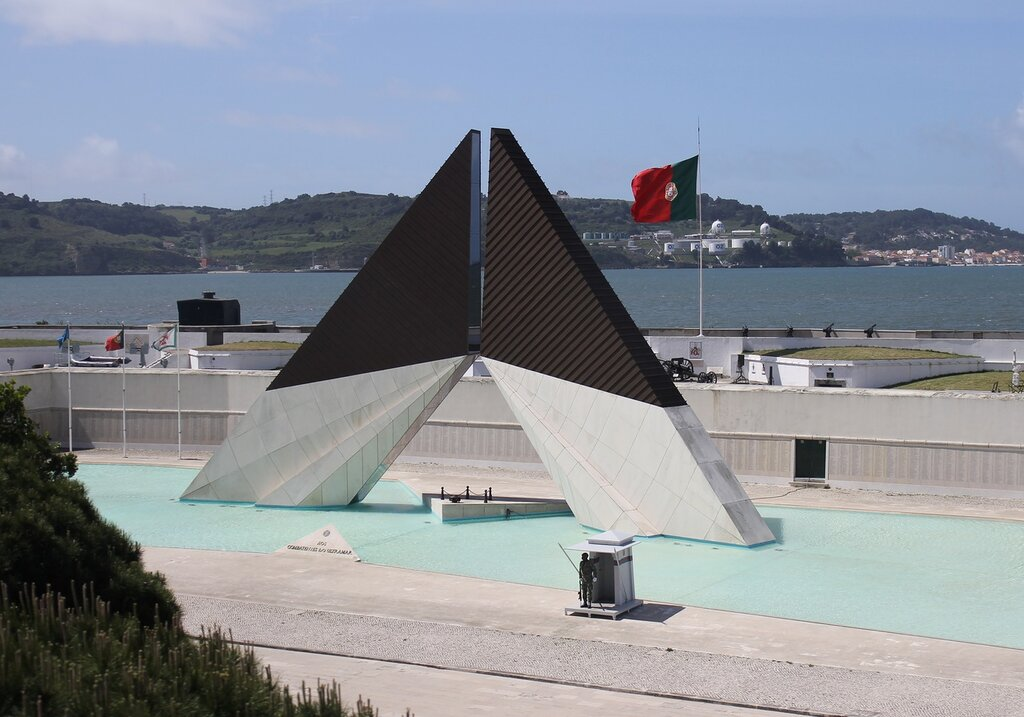 Lisbon. quay of Belem. Monument to the victims of the colonial wars. army museum