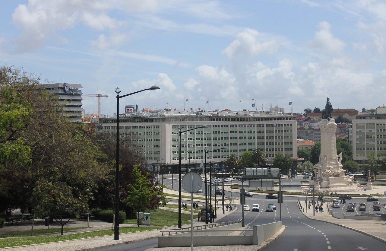 Lisbon. Place du Marquis de Pombal (Praça Marquês de Pombal)