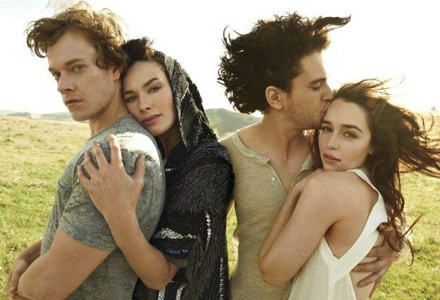 Актеры «Игры престолов» валяют дурака за кулисами   фотографии