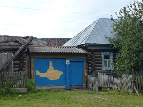 Ворота дома в деревне Тюлюк