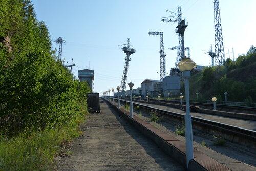 Пути судоподъемника Красноярской ГЭС