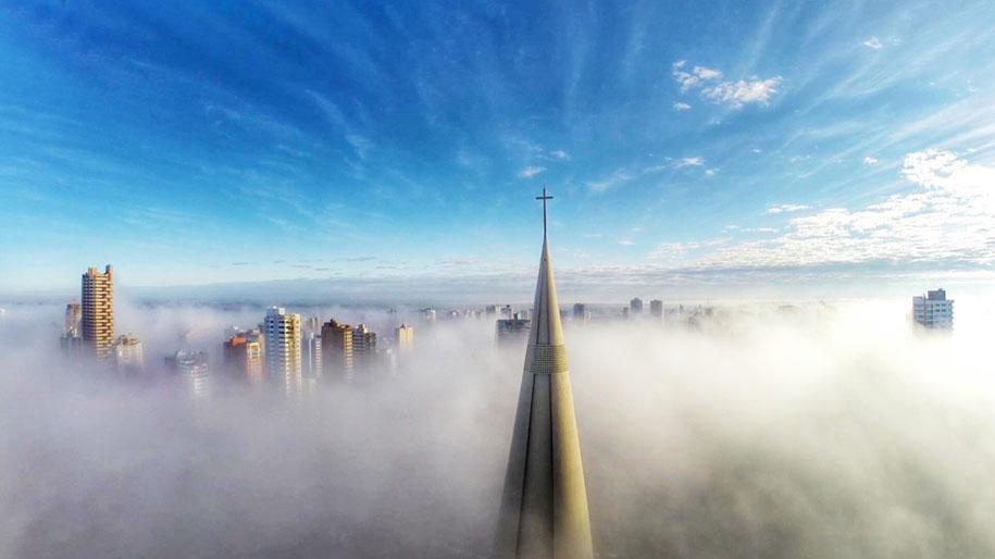 Выше тумана, в Маринге, Паране, Бразилия