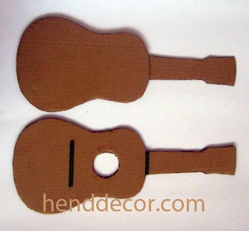 Как сделать гитару из бумаги