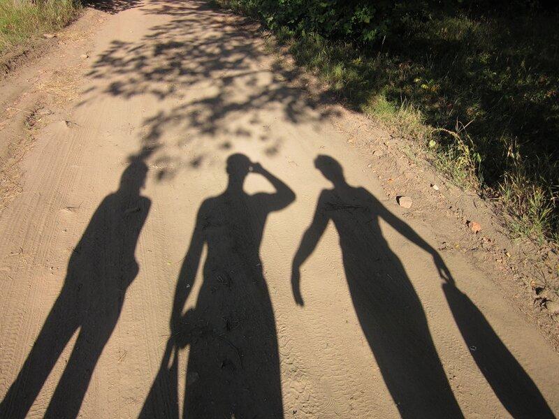 Три тени на дороге