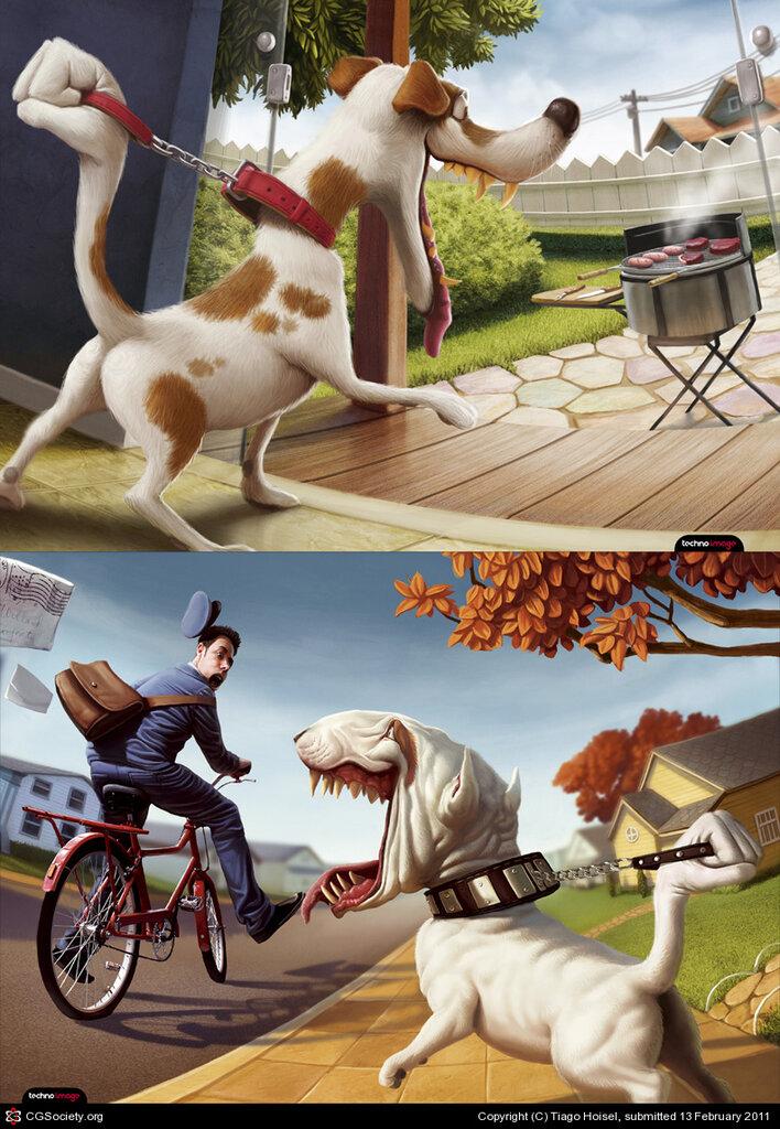 Веселые иллюстрации Tiago Hoisel