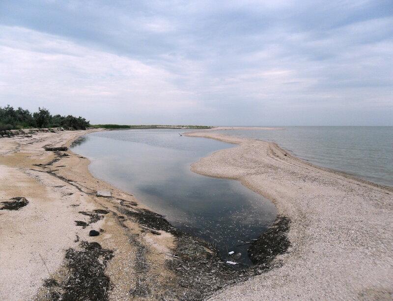 Азовские берега, под облаками, июль 2012