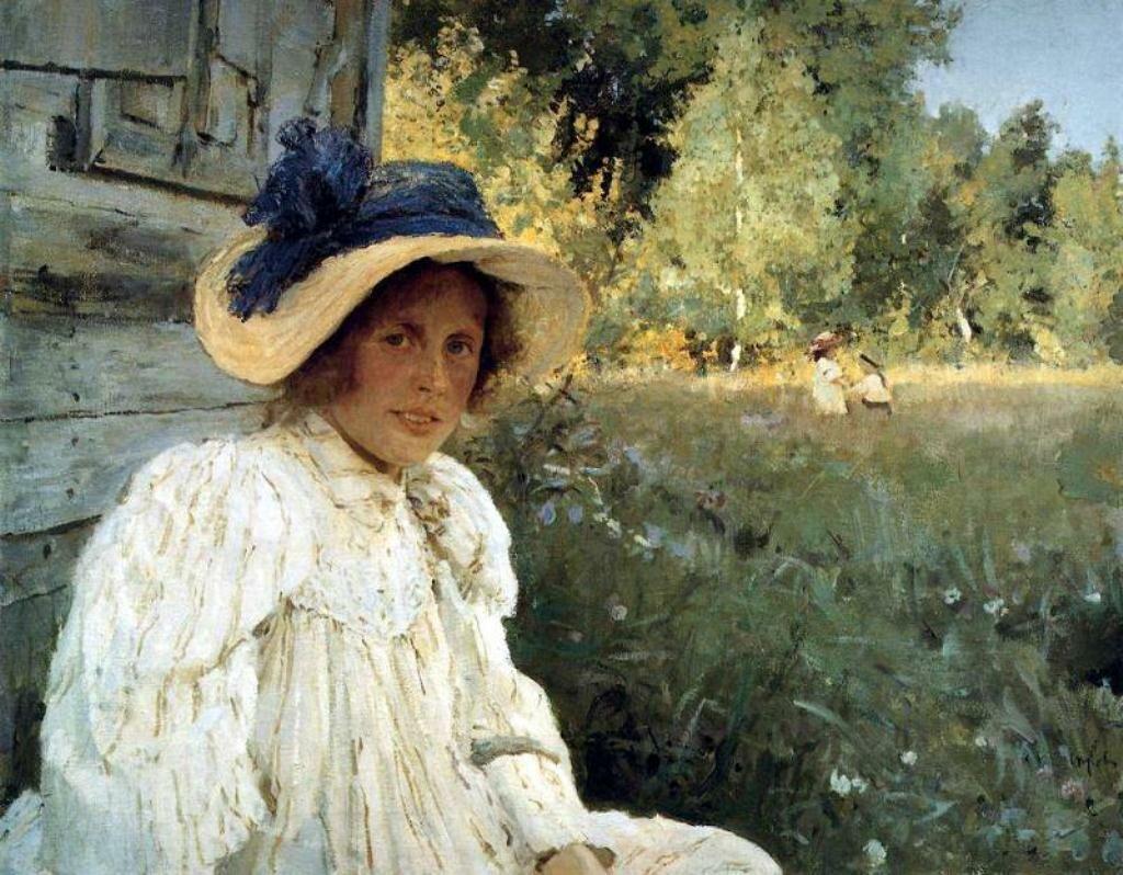 Летом (Портрет-О.-Ф.-Серовой) 1895, Серов В.А.