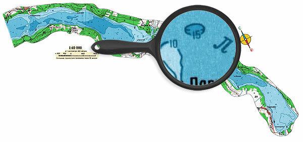 2-Карта глубин озера Суходольское