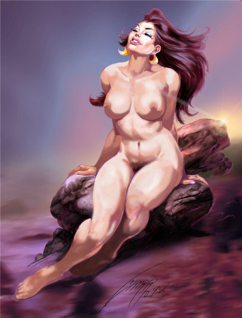 Горячие женщины - Рисунки художника Рафаэля Галлура / Rafael Gallur pictures - Digital Nude