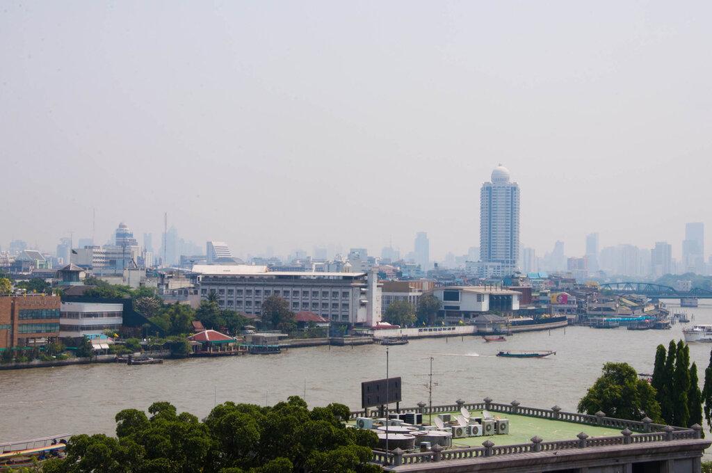 Бангкок, Тайланд, вид с башни Храма Утренней Зари