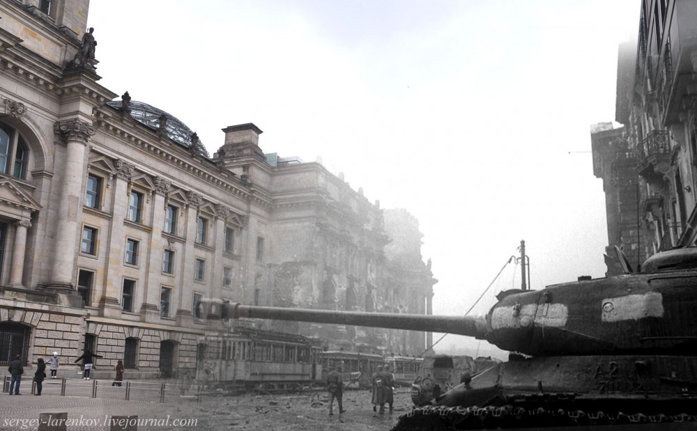 44 Берлин 1945-2010 Танк ИС-2 у Рейхстага..jpg