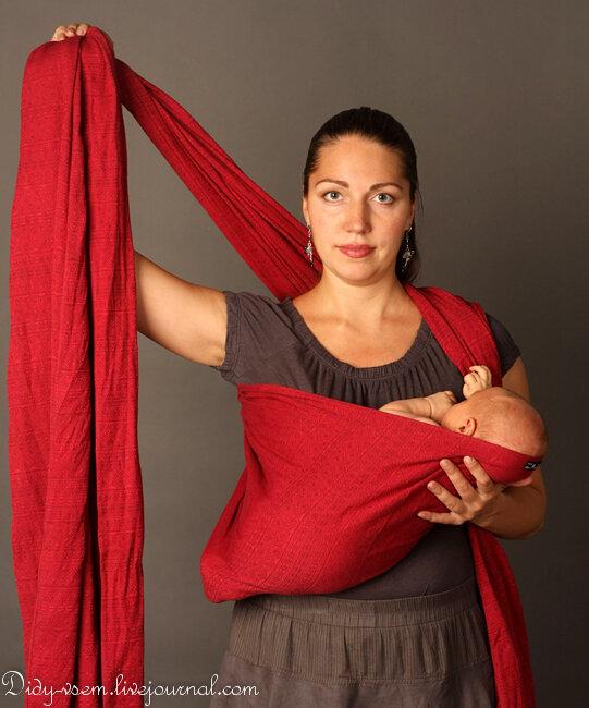 Как намотать слинг шарф для новорожденных видео