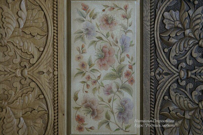 мебель с росписью, обучение росписи мебели