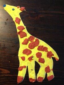 Поделки с жирафами из бумаги 165