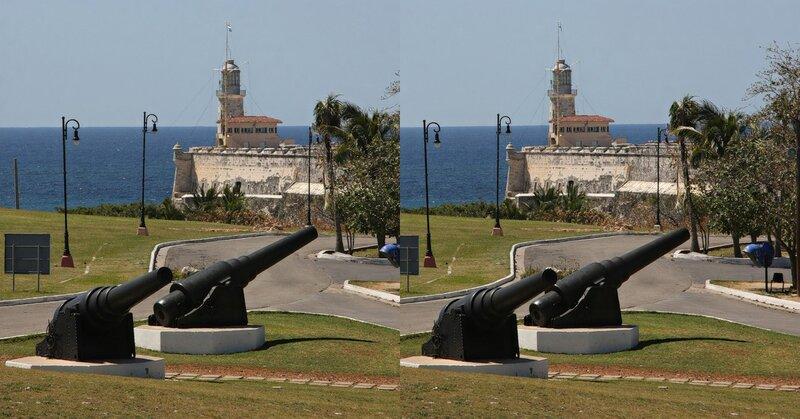 Castillo del Morro, La Habana, Cuba. Стереопара, перекрёстная стереопара, 3D, X3D, стерео фото, crossstereopairs, stereo photo, stereoview