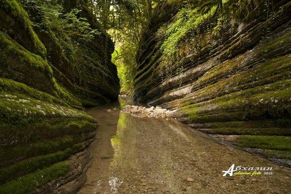 Ущелье реки Хашупсе в Абхазии