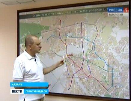 """""""Вестям """" будущие планы метростроя в Казани.  Вот скриншоты из их схем.  Собственно, ближайшая сейчас цель..."""