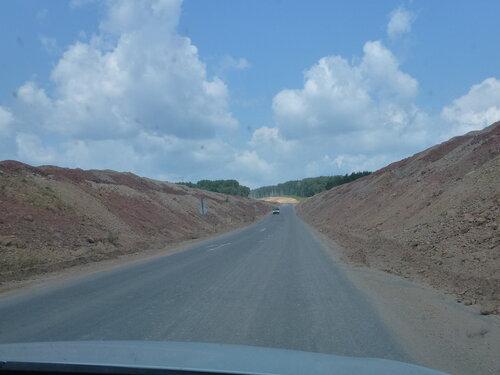 Строительство дороги в Забайкалье