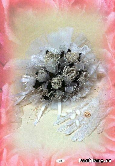 Купить свадебный букет из бисера - Делаем фенечки своими руками.