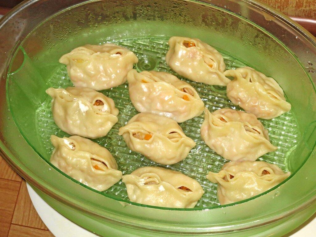 Манты с тыквой пошаговый рецепт в пароварке