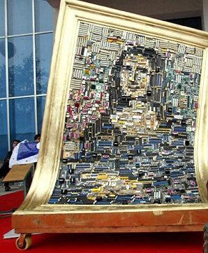 Мона Лиза из компьютерных деталей