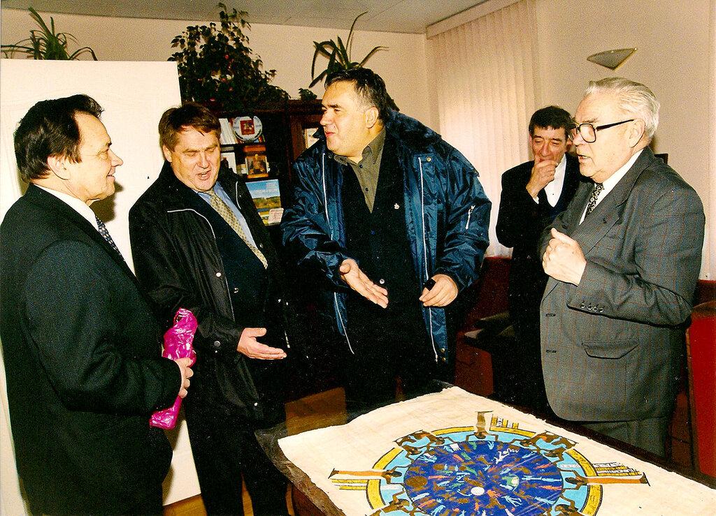 Стас Садальский и дважды Герой Советского Союза, генерал-майор авиации советский космонавт Адриян Николаев