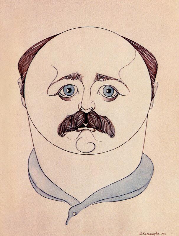 Александр Калягин. Рисунок Юрия Богатырева.